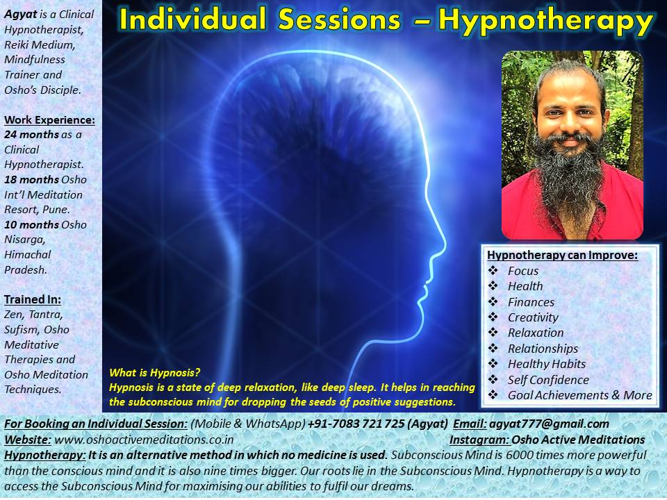 Hypnotherapy - Back 1