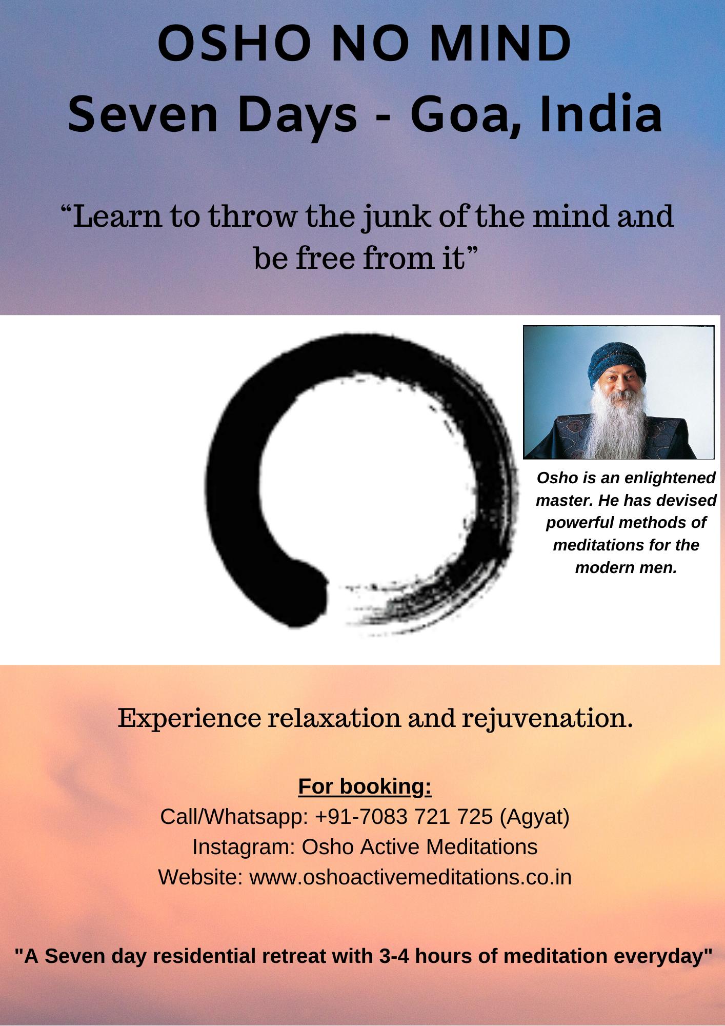 7 Days - Osho No Mind Retreat