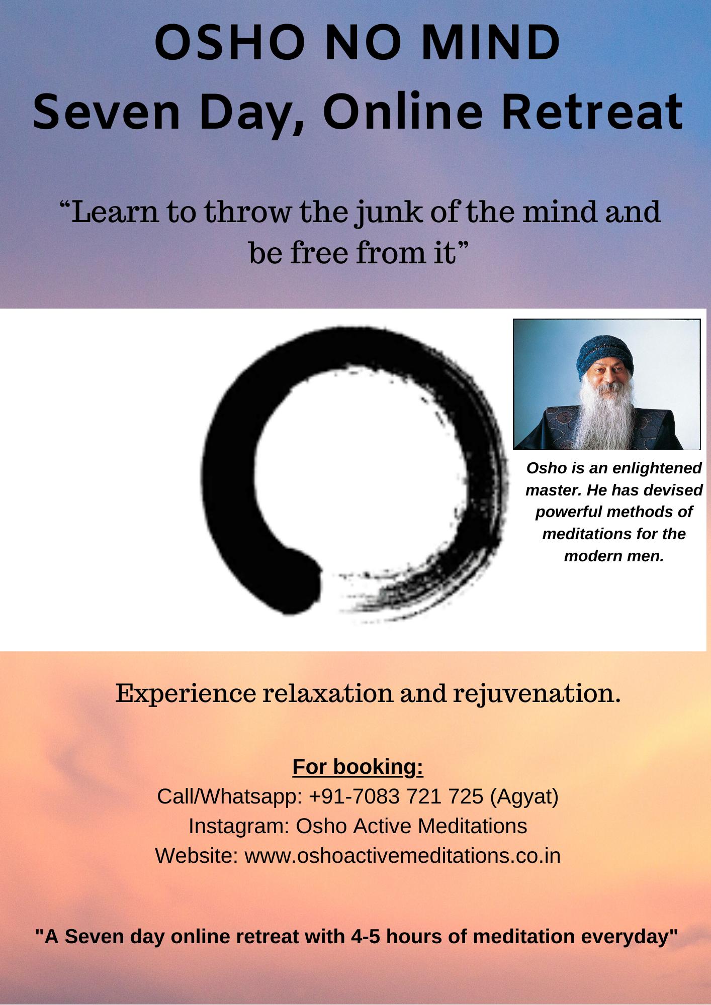 Copy of 7 Days - Osho No Mind Retreat